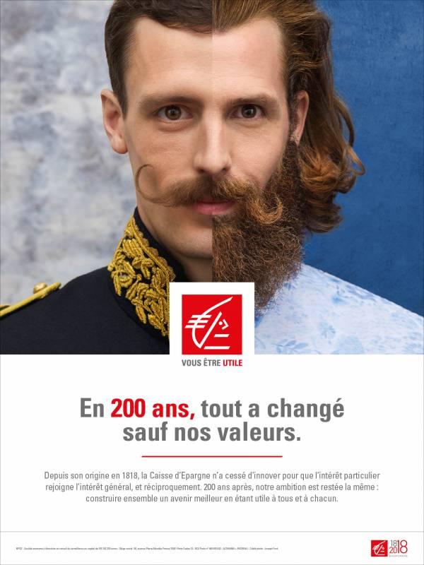 affiche de la campagne 2018 Caisse d'épargne