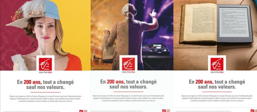 affiches de la caisse d'épargne