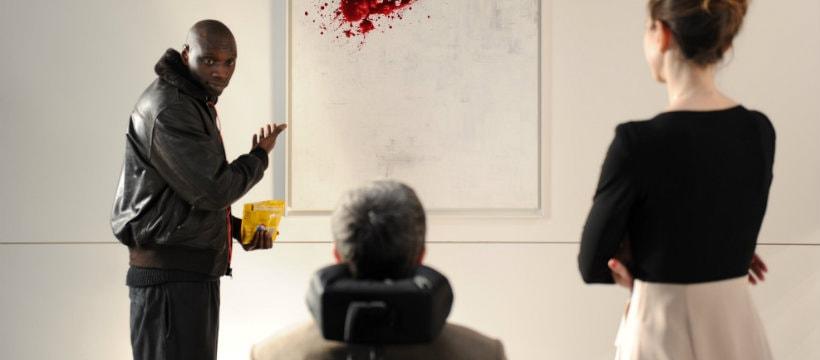 Un extrait du film Intouchables, où Omar Sy présente son oeuvre d'art