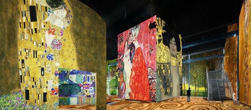 atelier des lumières Klimt