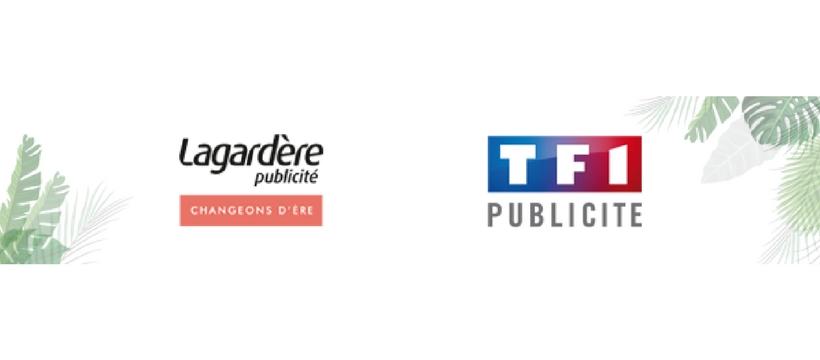 logo lagardere publicité et TF1 publicité