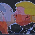 fresque Poutine Trump
