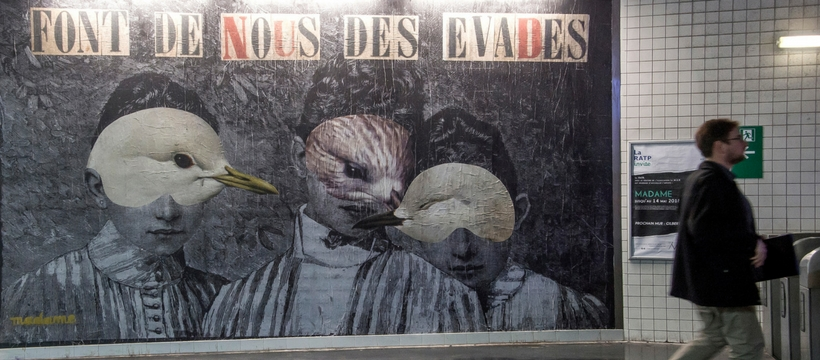 street art a la station Auber