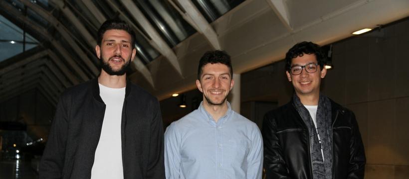 Thomas Rozier, Julien Pourtau et Nicolas Raudrant