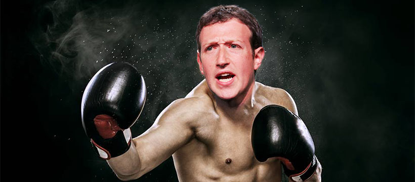 Mark Zuckerberg en train de faire de la boxe