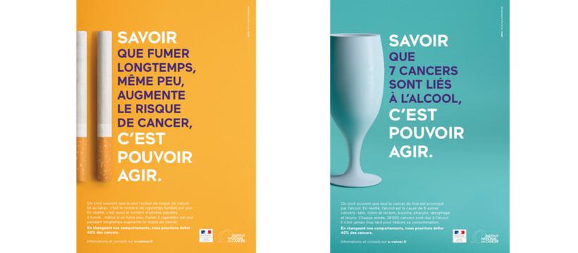 affiches de la campagne contre l'alcool et le tabac