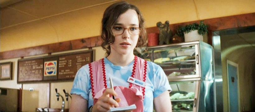 Ellen Page dans le film Bliss, en train de travailler dans un diner