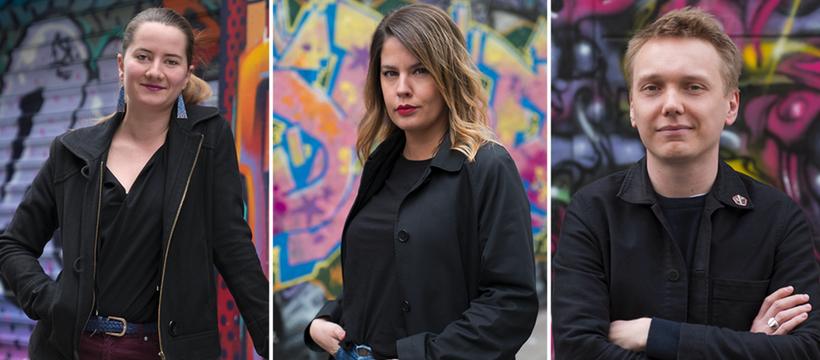 Agnès Urvoas, Emilie Cabanié et Paul Rigolle