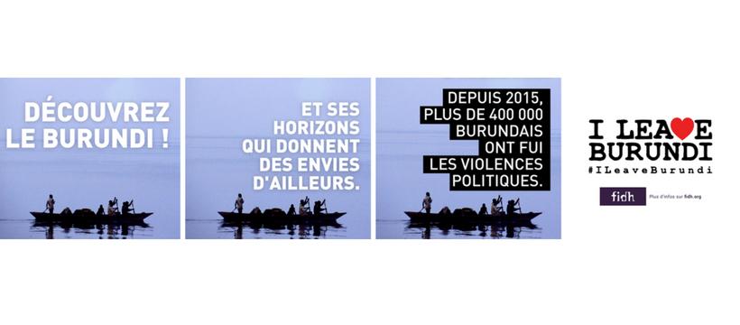 campagne de sensibilisation aux droits de l'homme au Burundi