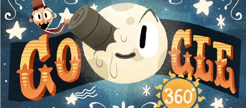 doodle Google qui rend hommage à Georges Meliès