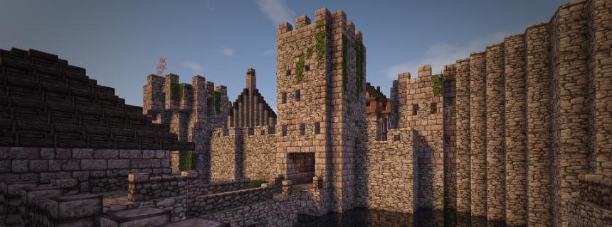 Entree du chateau minecraft