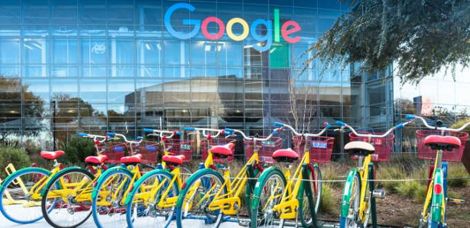 vélo google devant les locaux Google