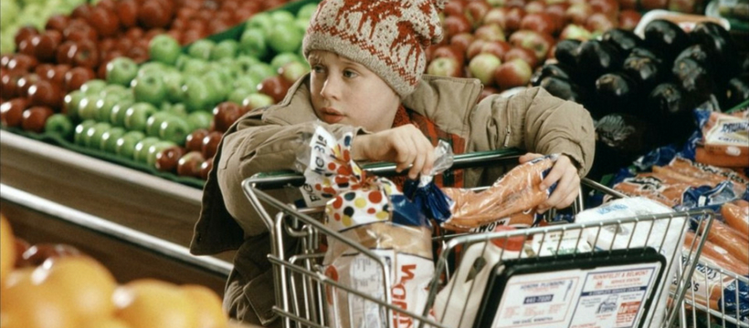 macauley culkin dans home alone au supermarché