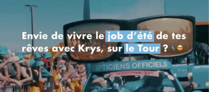 krys sur le tour de france