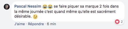 Un commentaire de Pascal Nessim sur Facebook