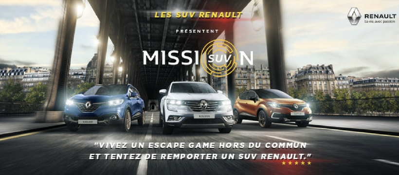 mission suv l 39 agence marcel signe la campagne de renault. Black Bedroom Furniture Sets. Home Design Ideas