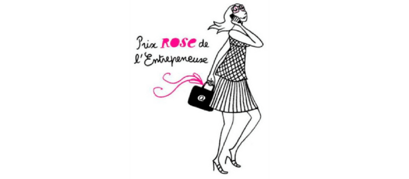 dessin du prix rose de l'entrepreneuse