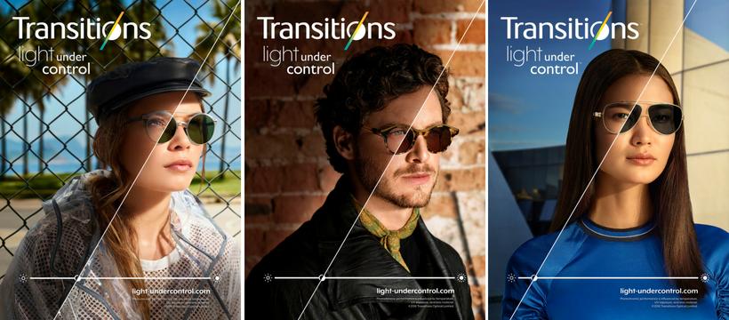 trois affiches de la campagne de pub transitions