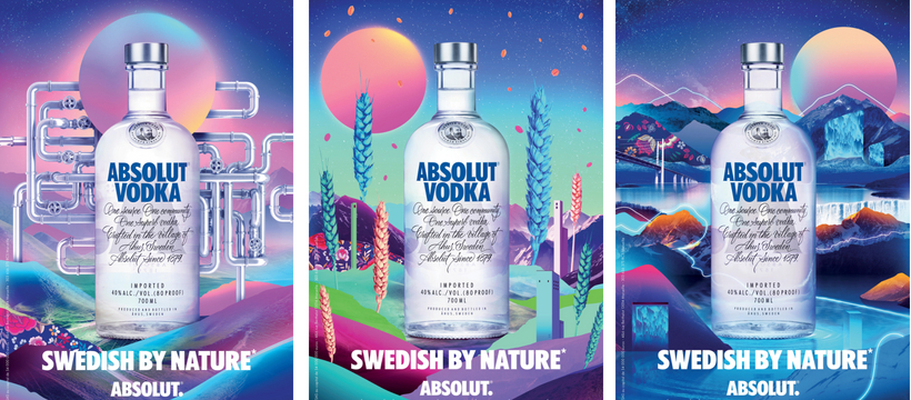 absolut vodka print