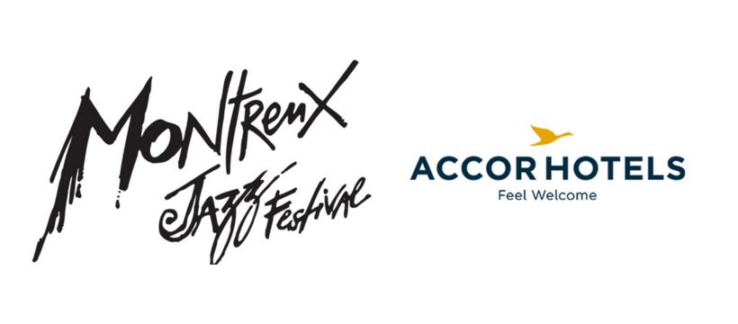 logos accorhotels et montreux jazz festival