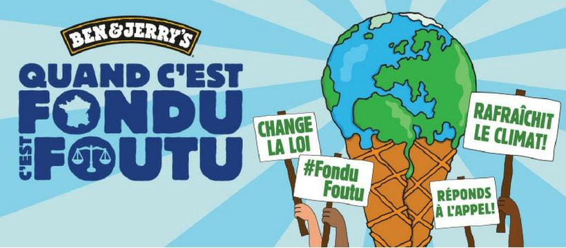 La campagne Ben&Jerry's en faveur du climat : quand c'est fondu, c'est foutu