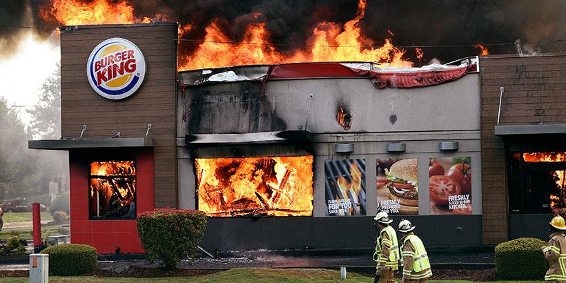 Print Burger King incendie