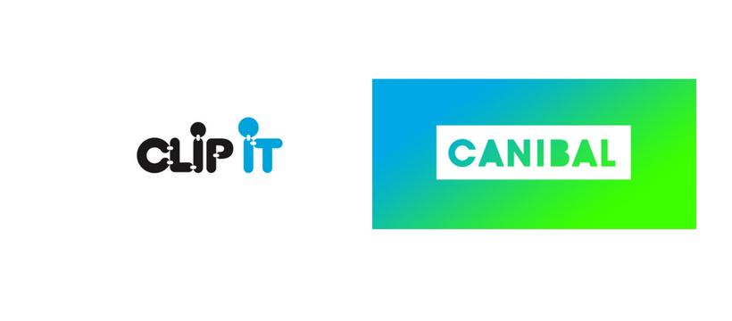 logo des startups clip it et canibal