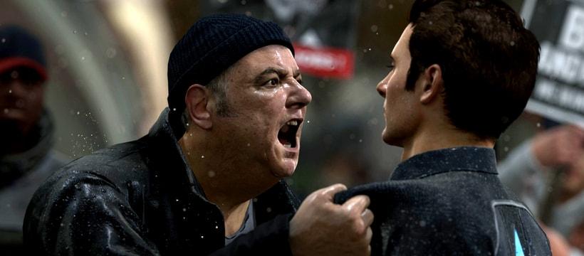 image jeu vidéo d'une homme qui crie
