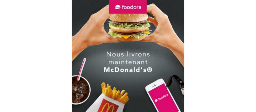foodora et macdonald's