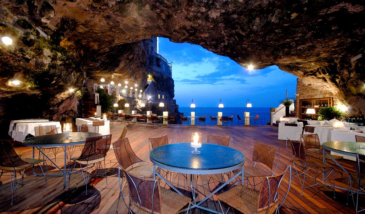 Le restaurant Grotta Palazzese