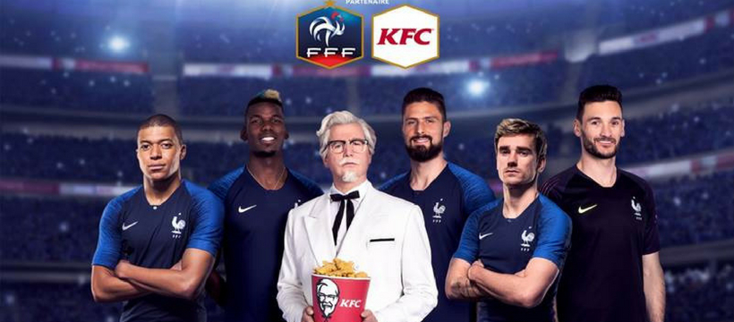 kfc et l'équipe de france