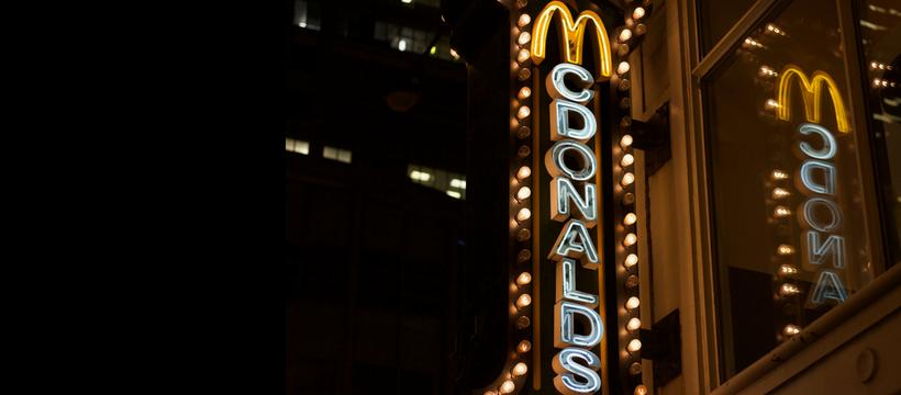 mcdonald's enseigne lumineuse