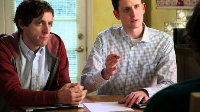 Richard et Jared, dans la série Silicon Valley, en train de faire passer un entretien d'embauche