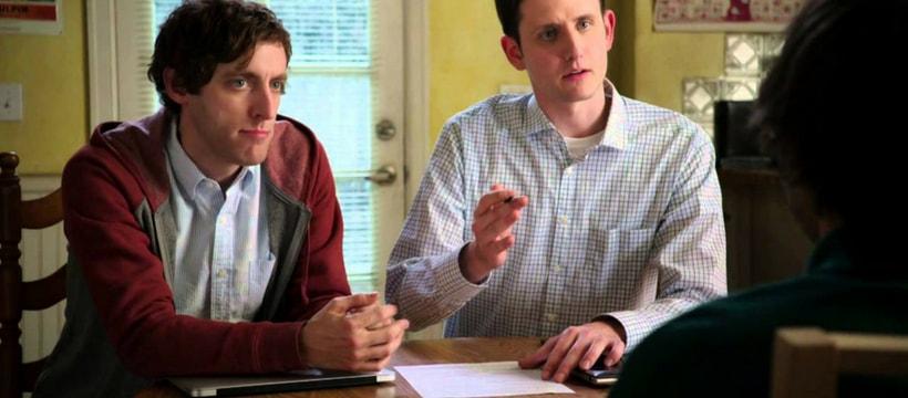 Richard et Jared, dans la série Silicon Valley, en train de faire passer un entretien d'embauche