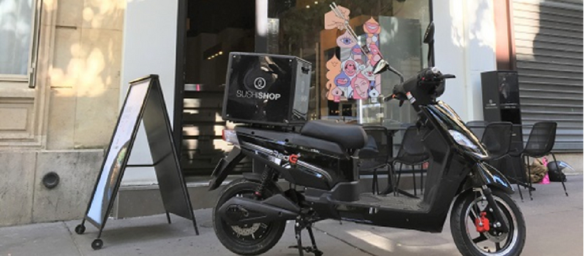 sushi shop scooter