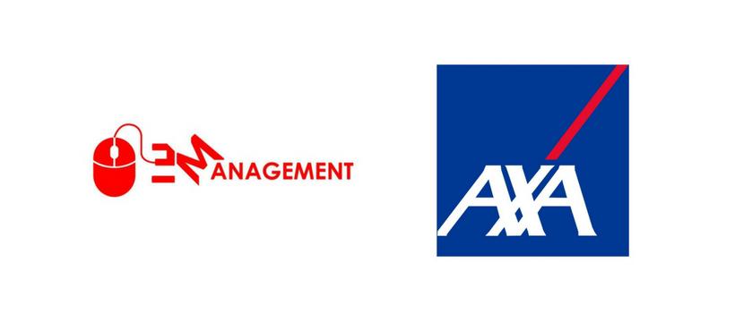 logos axa et esport management