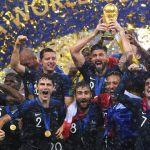 les joueurs de l'équipe de France lors de la Coupe du Monde 2018