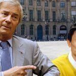 Vincent Bolloré et Jack Ma devant devant une Autolib'