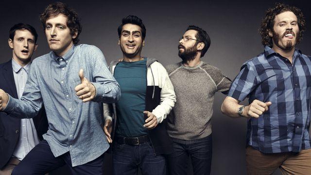 Les personnages de Silicon Valley, en train de sauter de joie