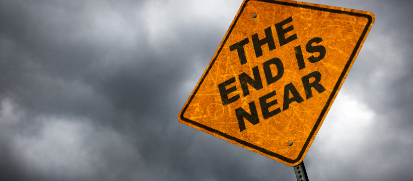 Panneau routier The End Is Near