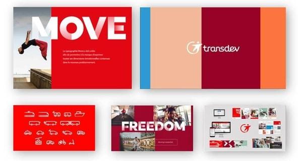 nouvelle typographie de Transdev