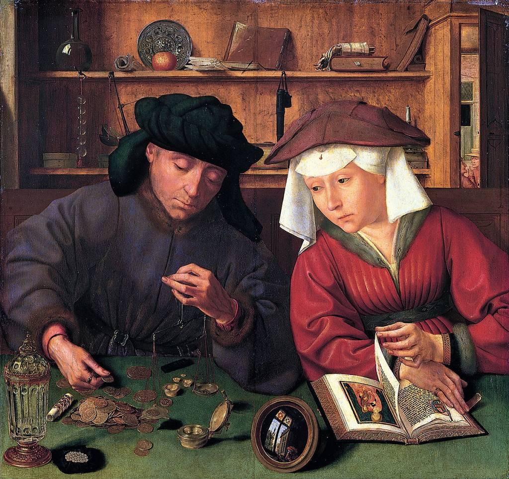 Quentin Metsys, le prêteur et sa femme