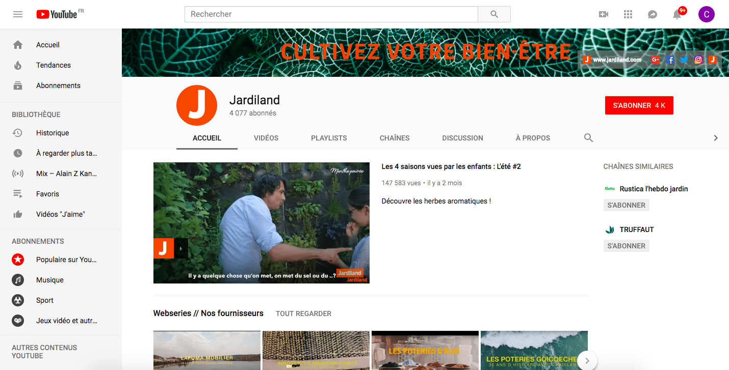 youtube jardiland