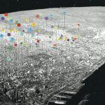 Photo d'une carte vue d'en haut