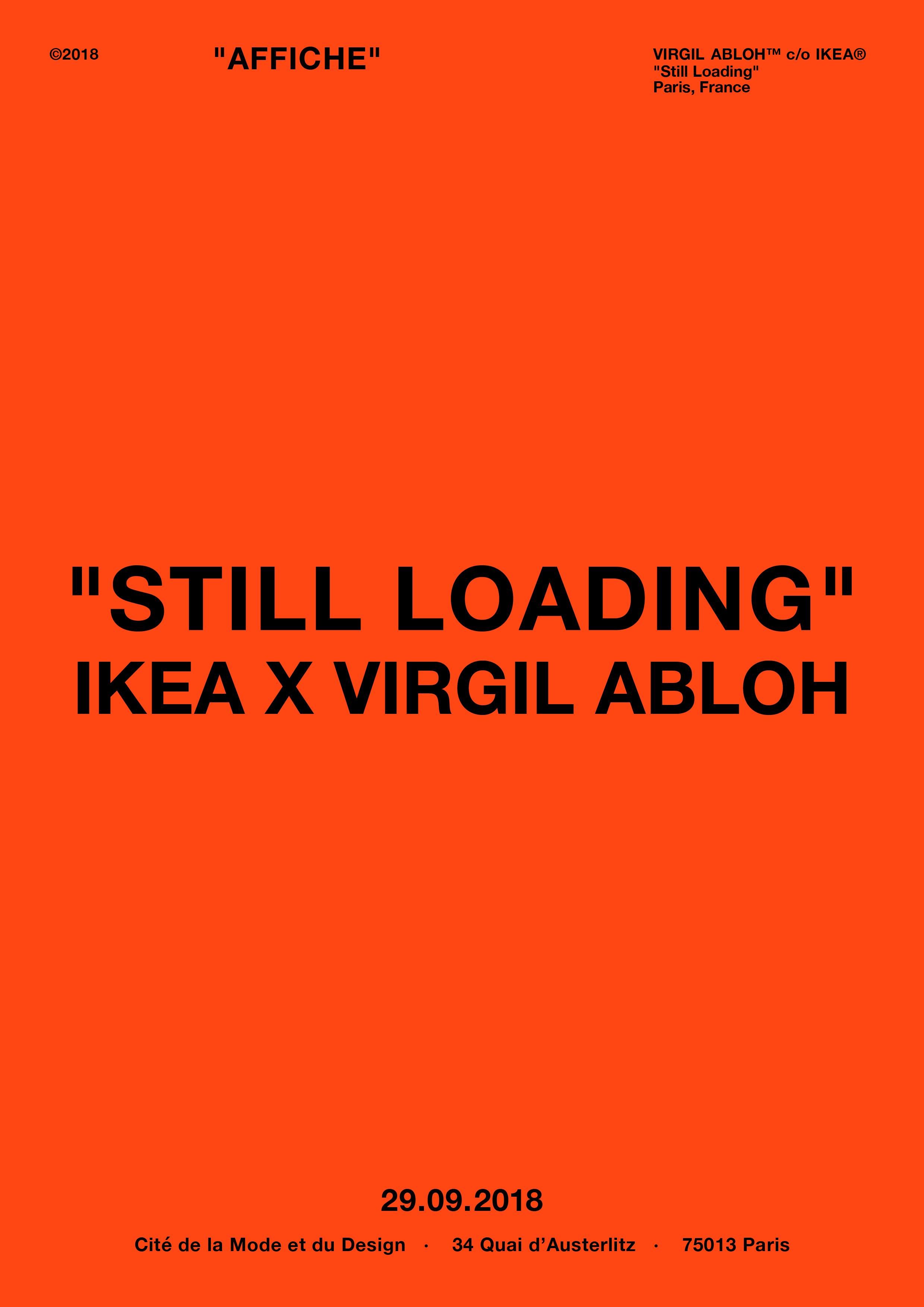 Affiche Ikea x Virgil Abloh