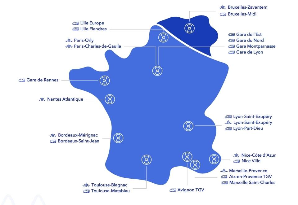 Carte de la France Blue Valet
