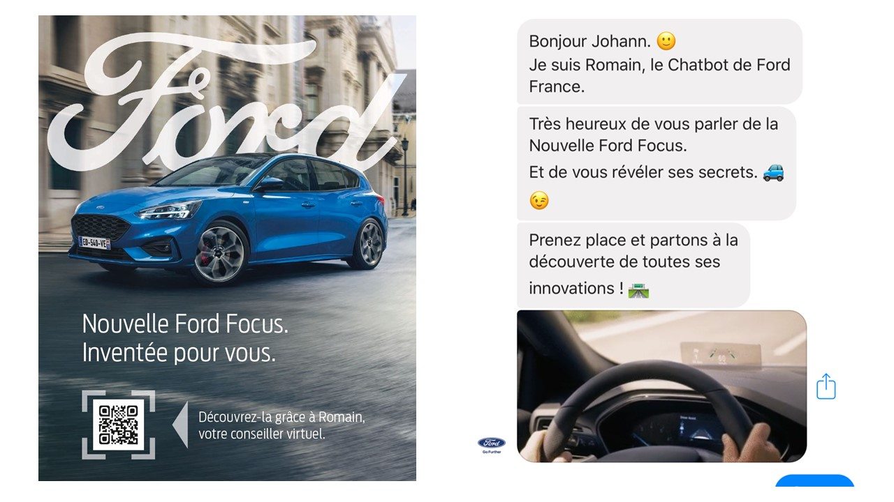 Romain le chatbot Ford