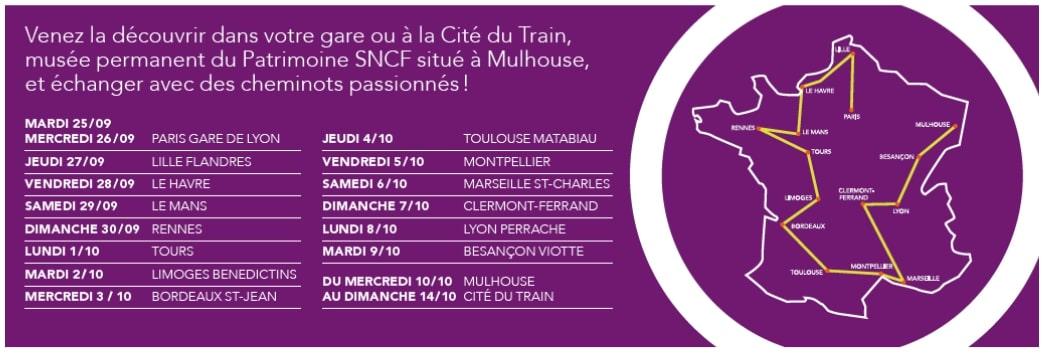 Le programme du train-expo
