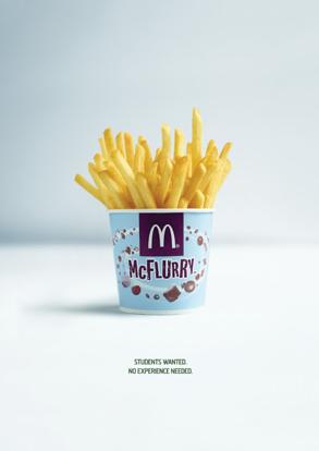 des frites dans un pot de McFlurry