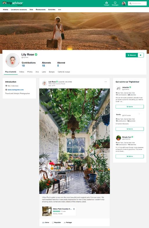 tripadvisor réseau social